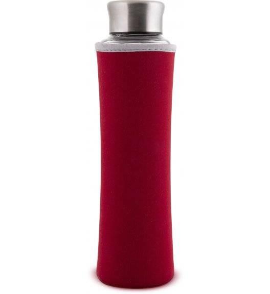 LAMART ECO Butelka szklana z ochraniaczem 550 ml czerwona / LT9029