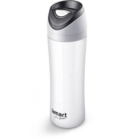 LAMART ESPRIT Kubek termiczny nierdzewny 450 ml biały / LT4016