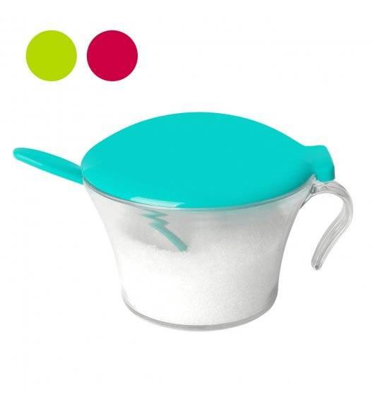 TADAR Kolorowa cukiernica z łyżeczką / tworzywo sztuczne / mix kolorów