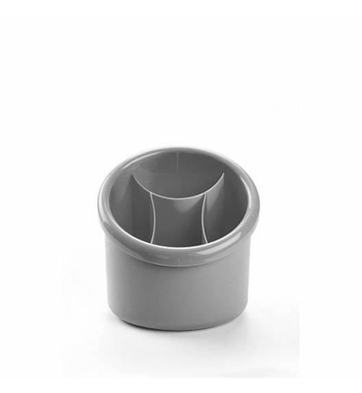 PLASTIC FORTE Ociekacz na sztućce okrągły / szary / tworzywo sztuczne