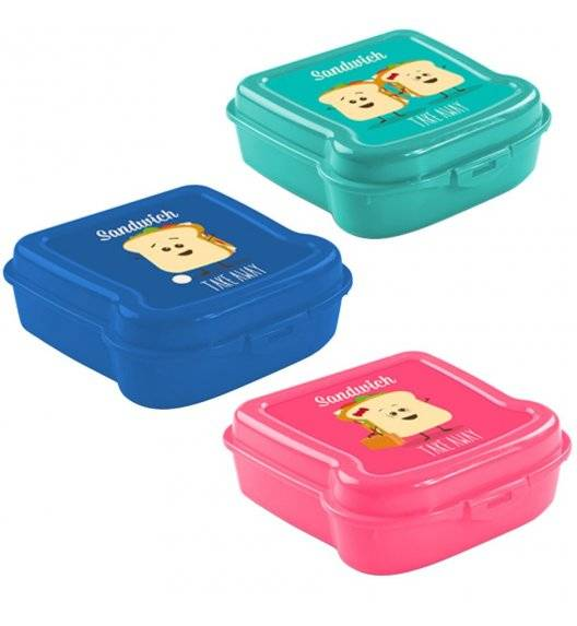 HEGA Lunch box / pojemnik na kanapkę 13,8 x 13,8 cm / mix kolorów
