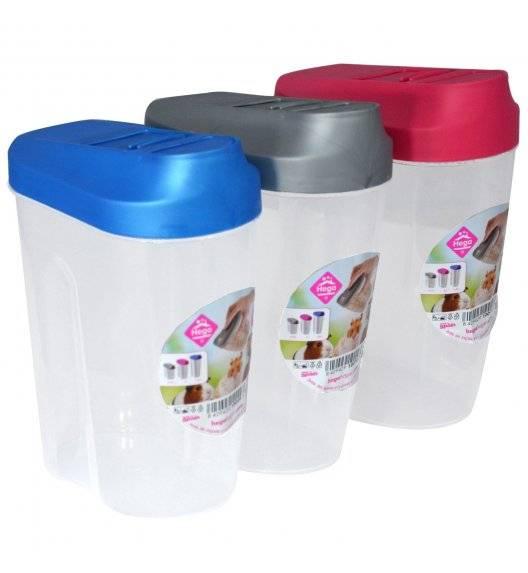 HEGA EASYOPEN Pojemnik z pokrywką ułatwiającą przesypywanie / mix kolorów