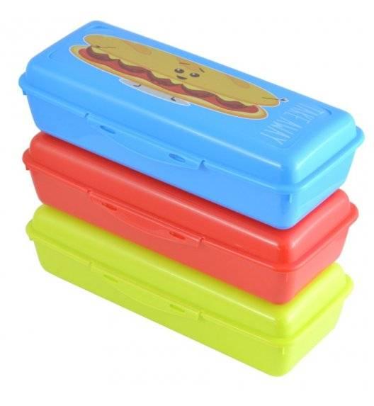 HEGA Lunch box / pojemnik na śniadanie 25 x 10,8 x 6,8 cm / mix kolorów