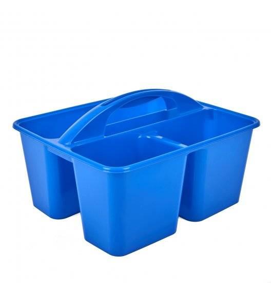 HEGA Oragnizer na detergenty / niebieski / 26,5 x 18,4 cm / tworzywo sztuczne