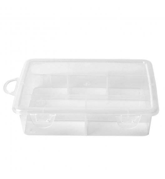 HEGA Organizer / pudełko z przegródkami zamykane / 15,5 x 11 cm / tworzywo sztuczne