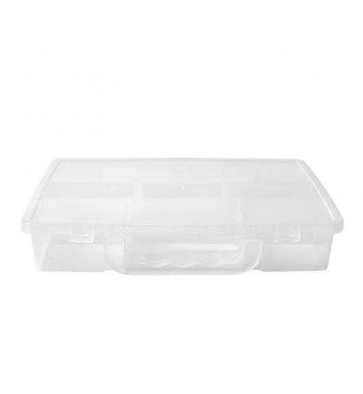HEGA HOBBY Organizer / pudełko z przegródkami zamykane / 25,5 x 17,5 cm / tworzywo sztuczne