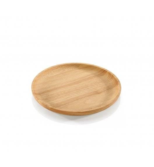 ZASSENHAUS Talerz / deska do serwowania ⌀ 25 cm / drewno kauczukowe