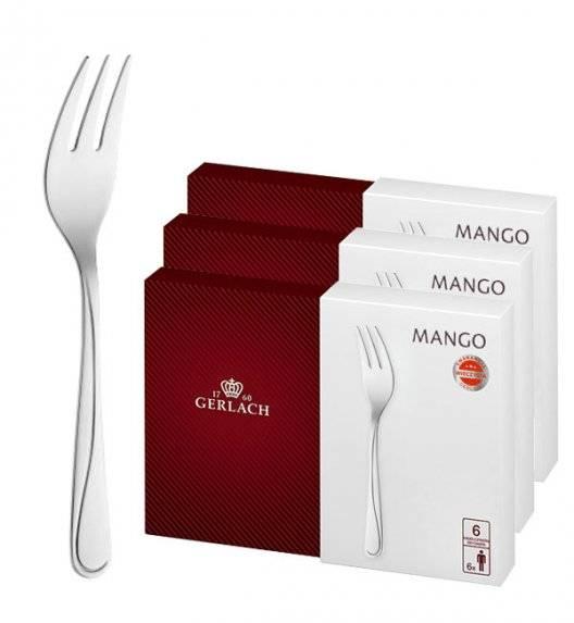 Gerlach Mango Sztućce Widelczyki do ciast 18 el pudełko / 18 osób / połysk