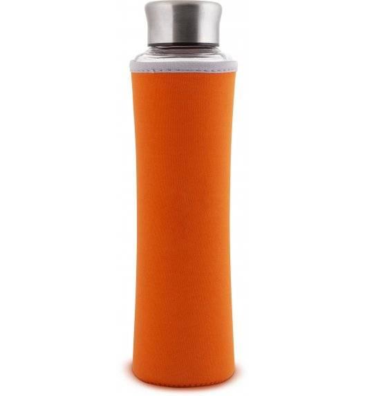 LAMART ECO Butelka szklana z ochraniaczem 550 ml pomarańczowa / LT9030