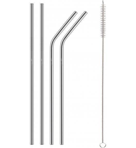 LAMART STRAW Zestaw metalowych słomek + szczoteczka do czyszczenia / LT7052
