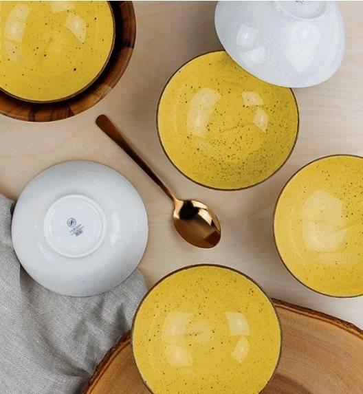 LUBIANA BOSS 6630J Komplet Salaterka 15 cm / 12 elementów / żółta / porcelana ręcznie malowana
