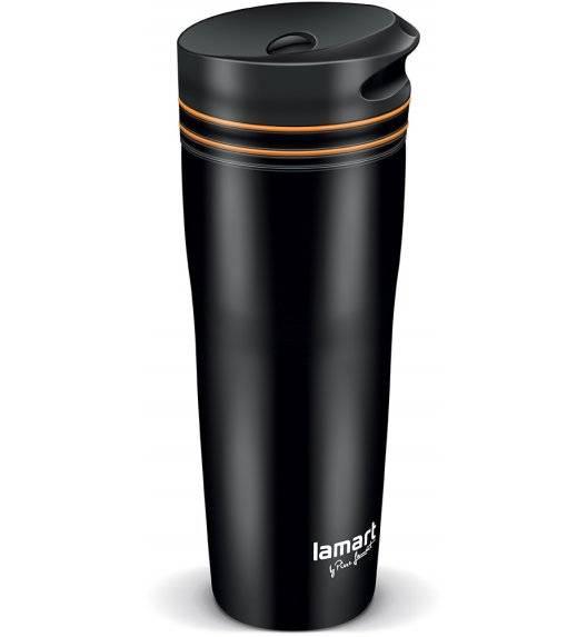 LAMART MANQ Kubek termiczny 360 ml czarno-pomarańczowy / LT4051