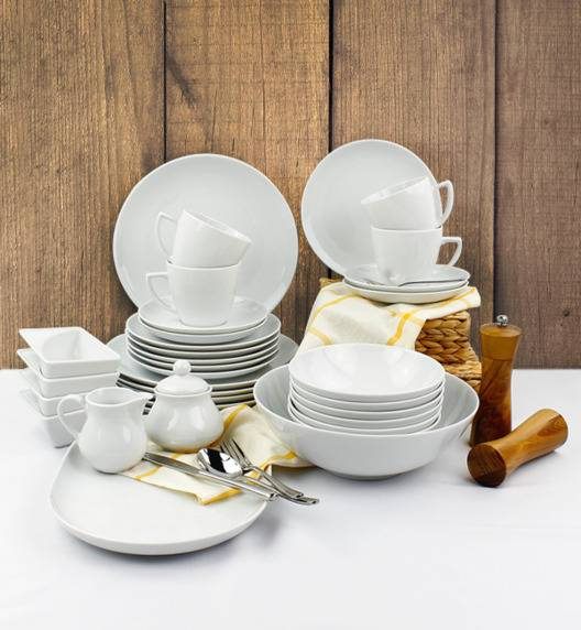 LUBIANA BOSS BEATA Serwis obiadowo - kawowy 128 el / 24 os / porcelana