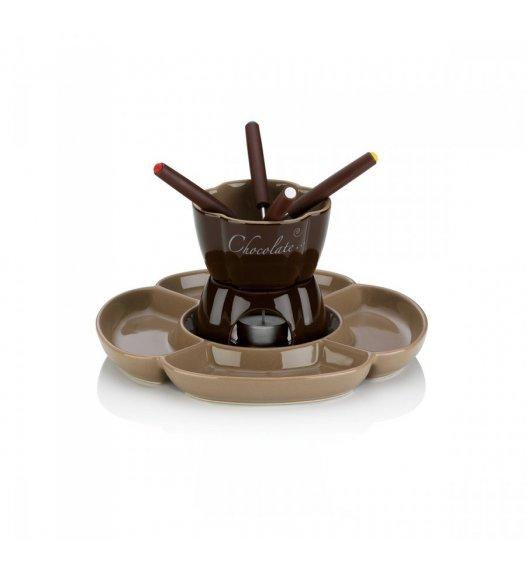 WYPRZEDAŻ! KELA FIORE Zestaw do fondue czekoladowego 250 ml dla 4 osób / ceramika