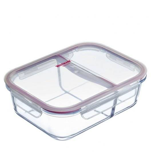 WYPRZEDAŻ! WESTMARK Pojemnik do przechowywania żywności z przegrodami / 1380 ml / szkło, tworzywo sztuczne