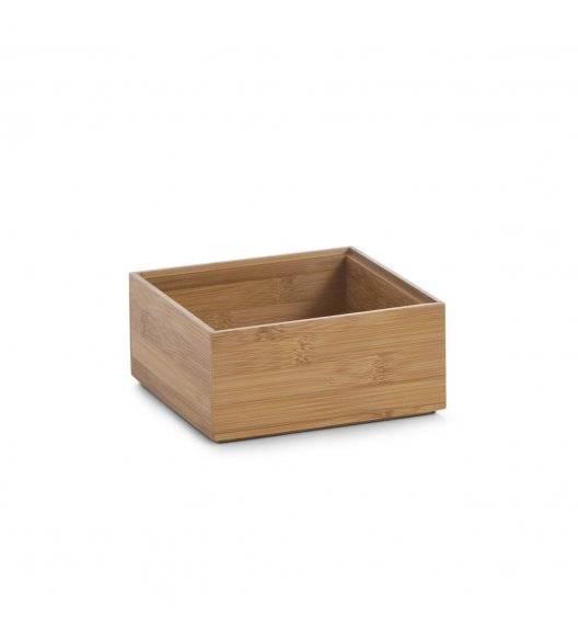 WYPRZEDAŻ! ZELLER Pudełko do przechowywania 15 cm / drewno bambusowe