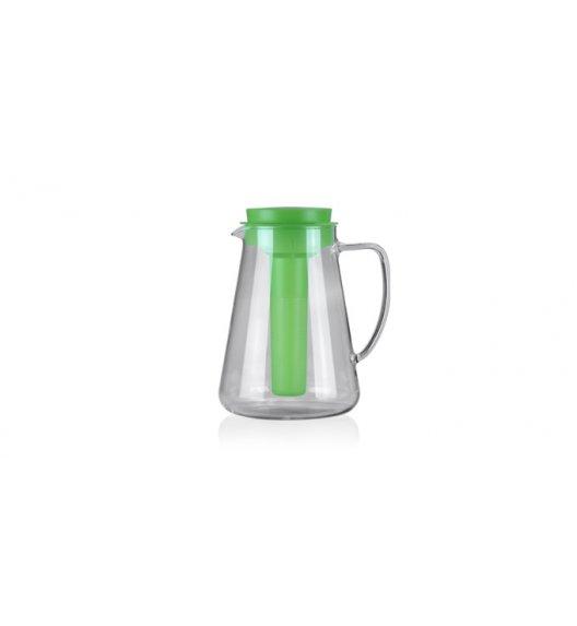WYPRZEDAŻ! TESCOMA TEO Dzbanek 2,5 L z sitkiem do zaparzania oraz wkładem chłodzącym / zielony