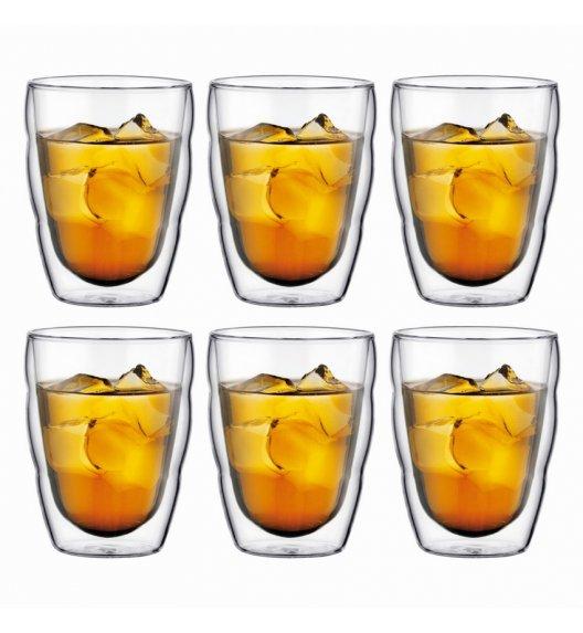 WYPRZEDAŻ! BODUM PILATUS Komplet 6 szklanek 0,35 l / podwójne ścianki / Btrzy