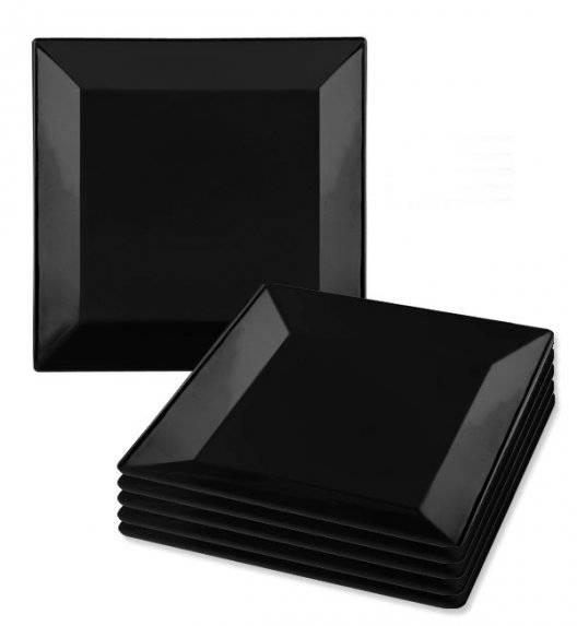 LUBIANA CLASSIC Komplet talerzy obiadowych 27 cm / 6 os / 6 el / czarny / porcelana
