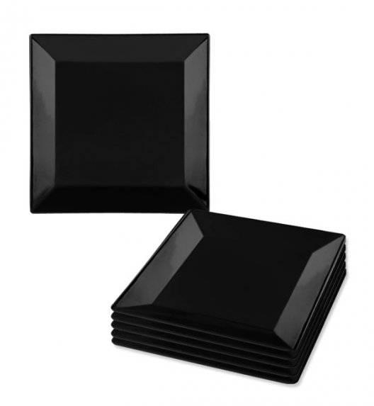 LUBIANA CLASSIC Komplet talerzy deserowych 21,5 cm / 6 os / 6 el / czarny / porcelana