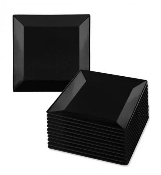 LUBIANA CLASSIC Komplet talerzy deserowych 21,5 cm / 12 os / 12 el / czarny / porcelana