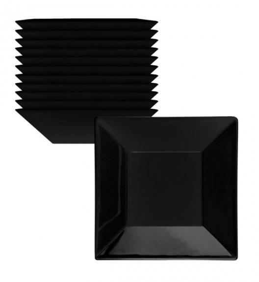 LUBIANA CLASSIC Komplet talerzy głębokich 18,5 cm / 12 os / 12 el / czarny / porcelana