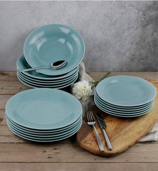 LUBIANA ETO K500 Serwis obiadowy morski 36 el / 12 osób / porcelana ręcznie malowana