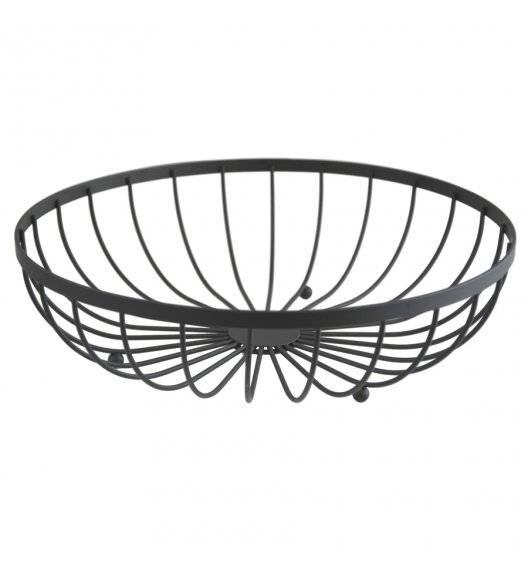 TADAR Koszyk metalowy na owoce / czarny / 30 x 8,5 cm