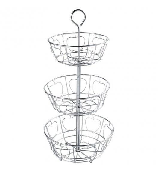TADAR WIEŻA 3-poziomowy koszyk na owoce / srebrny