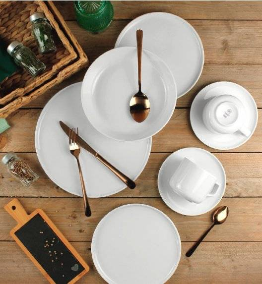 LUBIANA ANKARA Komplet obiadowo - kawowy 12 os 60 el / porcelana