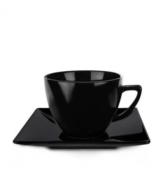 LUBIANA CLASSIC Filiżanka 280 ml + spodek 15 cm / czarny / porcelana