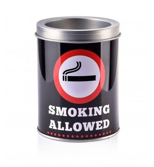 MONDEX ASHLEY Popielniczka stalowa 7,7 cm x 10 cm / Smoking Allowed