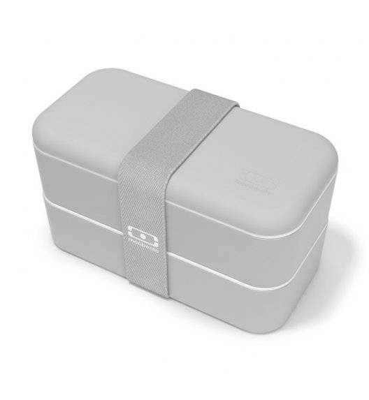 MONBENTO BENTO ORIGINAL Lunchbox 2 x 0,5 L / Grey Coton