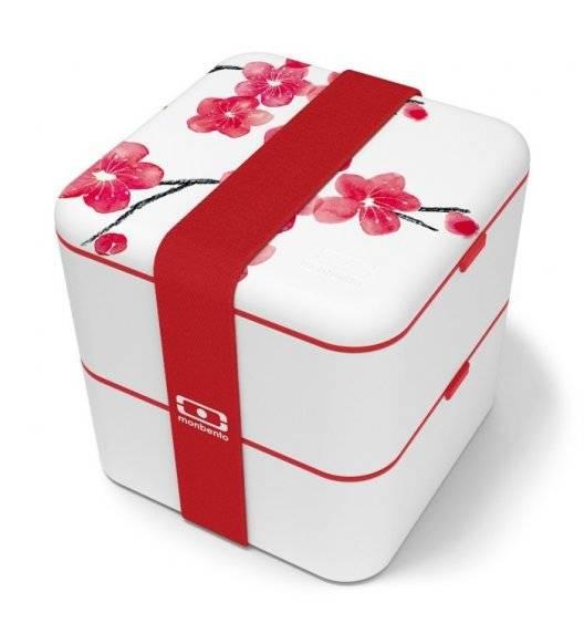 MONBENTO BENTO SQUARE Lunchbox 2 x 0,85 L / Graphic Blossom