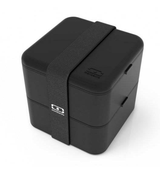 MONBENTO BENTO SQUARE Lunchbox 2 x 0,85 L / Black Onyx