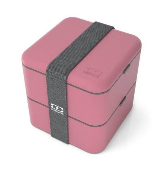 MONBENTO BENTO SQUARE Lunchbox 2 x 0,85 L / Pink Blush