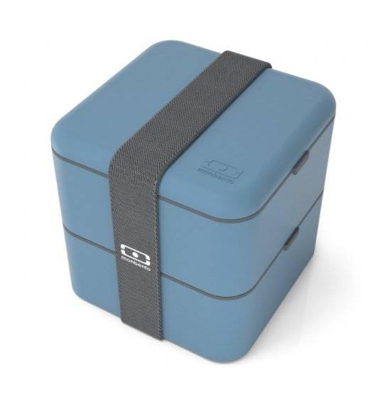 MONBENTO BENTO SQUARE Lunchbox 2 x 0,85 L / Blue Denim