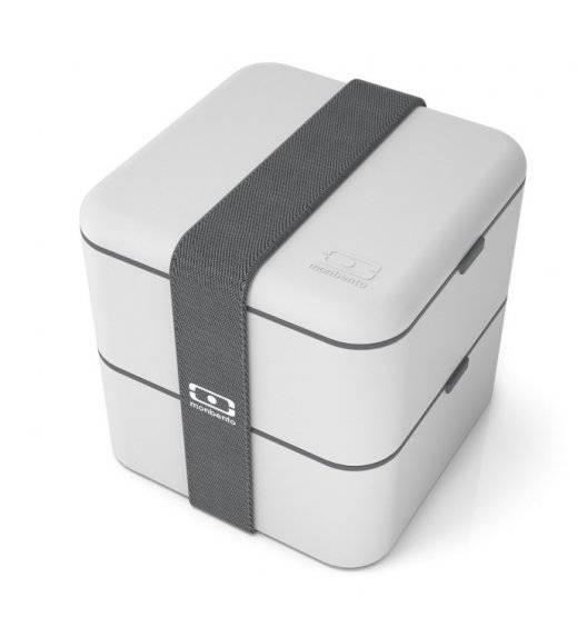 MONBENTO BENTO SQUARE Lunchbox 2 x 0,85 L / Grey Coton