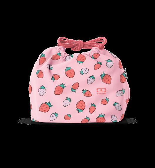 MONBENTO POCHETTE Torba na lunchbox / rozmiar M / Strawberry