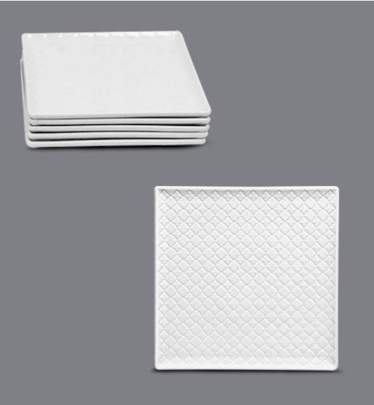 LUBIANA MARRAKESZ Komplet talerz deserowy 17 cm / 6 os / 6 el / biały / porcelana