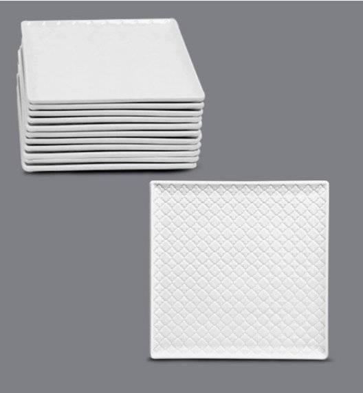 LUBIANA MARRAKESZ Komplet talerz deserowy 17 cm / 12 os / 12 el / porcelana