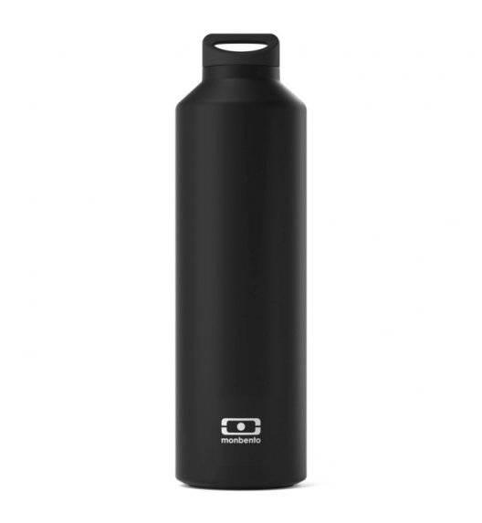 MONBENTO STEEL Butelka termiczna z zaparzaczem 0,5 L / Black Onyx