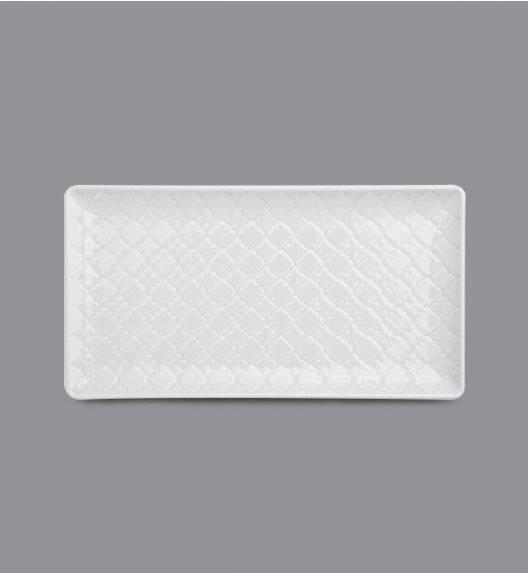 LUBIANA MARRAKESZ Talerz serwingowy / półmis 24 x 13 cm / biały / porcelana
