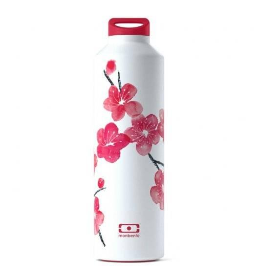 MONBENTO STEEL Butelka termiczna z zaparzaczem 0,5 L / Graphic Blossom