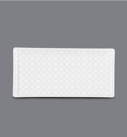 LUBIANA MARRAKESZ Talerz serwingowy / półmis 29 x 13 cm / biały / porcelana