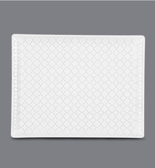 LUBIANA MARRAKESZ Talerz serwingowy / półmis 31 x 24 cm / biały / porcelana
