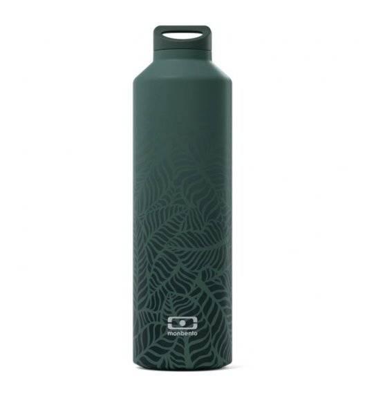 MONBENTO STEEL Butelka termiczna z zaparzaczem 0,5 L / Graphic Jungle