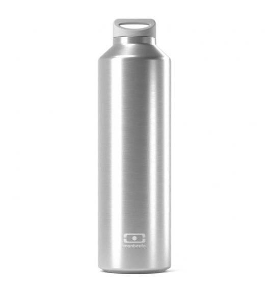 MONBENTO STEEL Butelka termiczna z zaparzaczem 0,5 L / Metallic Silver