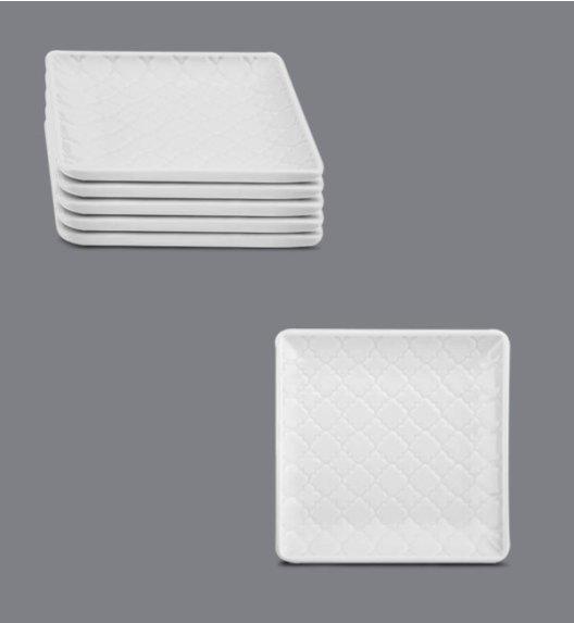 LUBIANA MARRAKESZ Komplet talerz płytki 11 cm / 6 os / 6 el / biały / porcelana