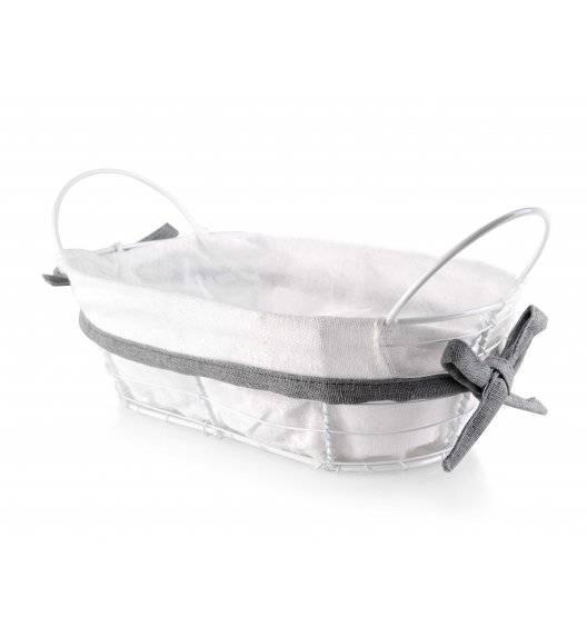 MONDEX Koszyk na pieczywo 25 x 15 x 8 cm / biały / metalowy